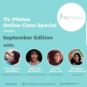 Pilates online classes september Bintaro